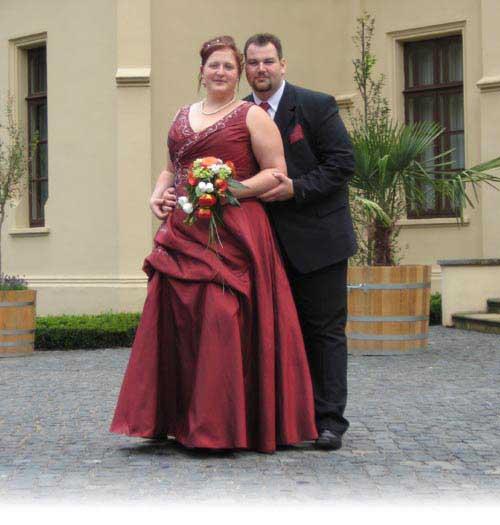 Andreas und Insa vor Evenburg