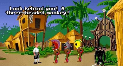 Monkey Island Screenshot mit Affe