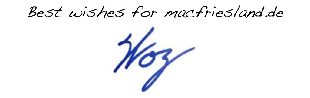 Autogramm von Steve Wozniak