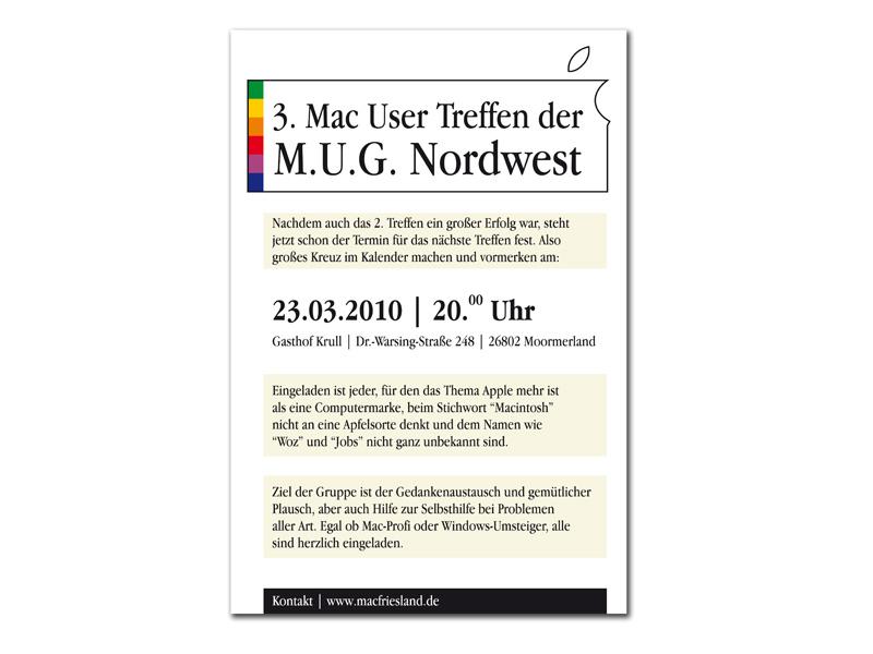 Flyer für Macgruppe
