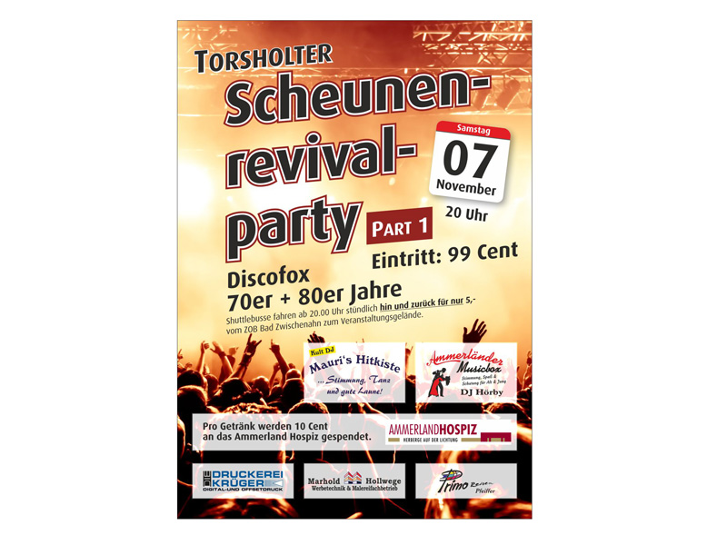 Flyer Scheunenparty