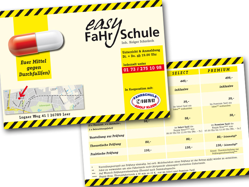 Easy Fahrschule Flyer
