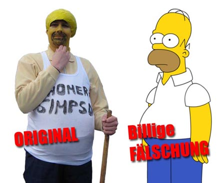 Homer Simpson Fälschung