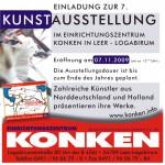 Einladung zur Kunstausstellung in Leer Logabirum beim Einrichtungszentrum Konken