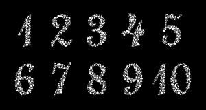 Zahlen mit Ishihara Muster