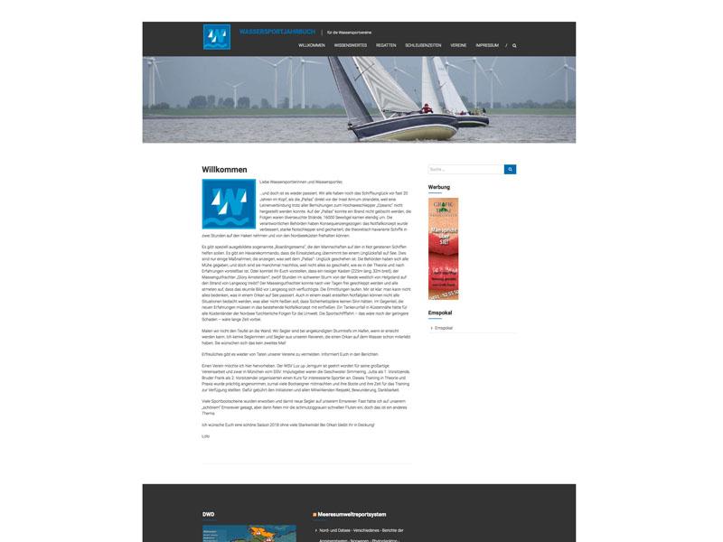 Webseite Wassersportjahrbuch