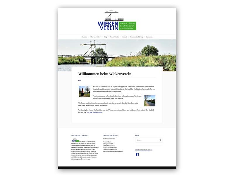 Wiekenverein Webseite
